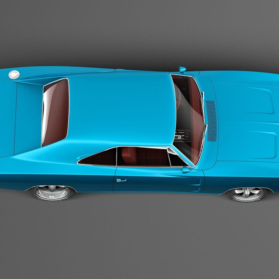 Dodge Charger Pro Touring 1968-1969 royalty-free 3d model - Preview no. 8