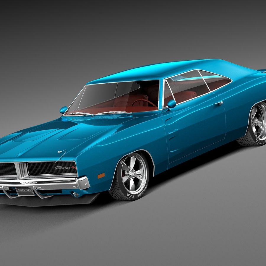 Dodge Charger Pro Touring 1968-1969 royalty-free 3d model - Preview no. 1