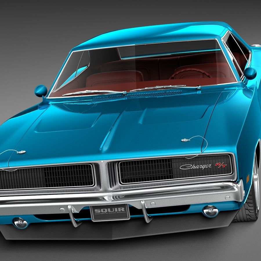 Dodge Charger Pro Touring 1968-1969 royalty-free 3d model - Preview no. 2
