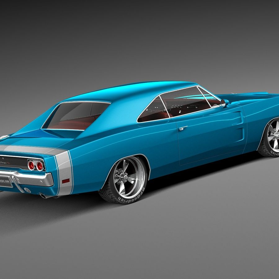 Dodge Charger Pro Touring 1968-1969 royalty-free 3d model - Preview no. 5