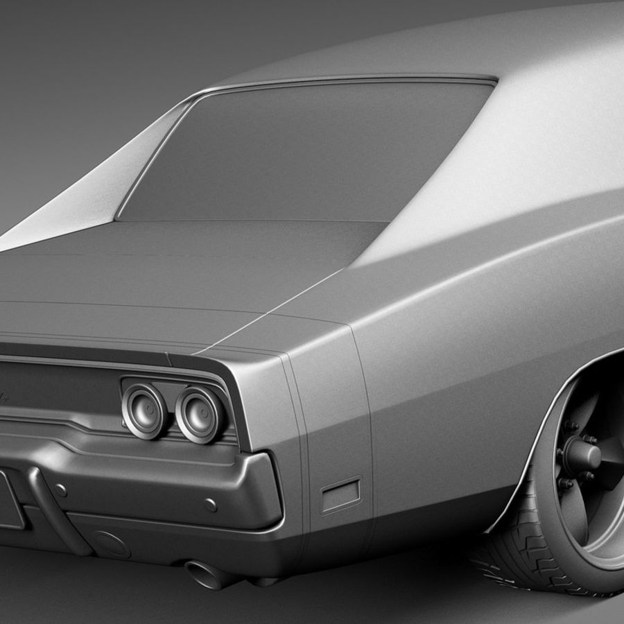 Dodge Charger Pro Touring 1968-1969 royalty-free 3d model - Preview no. 13