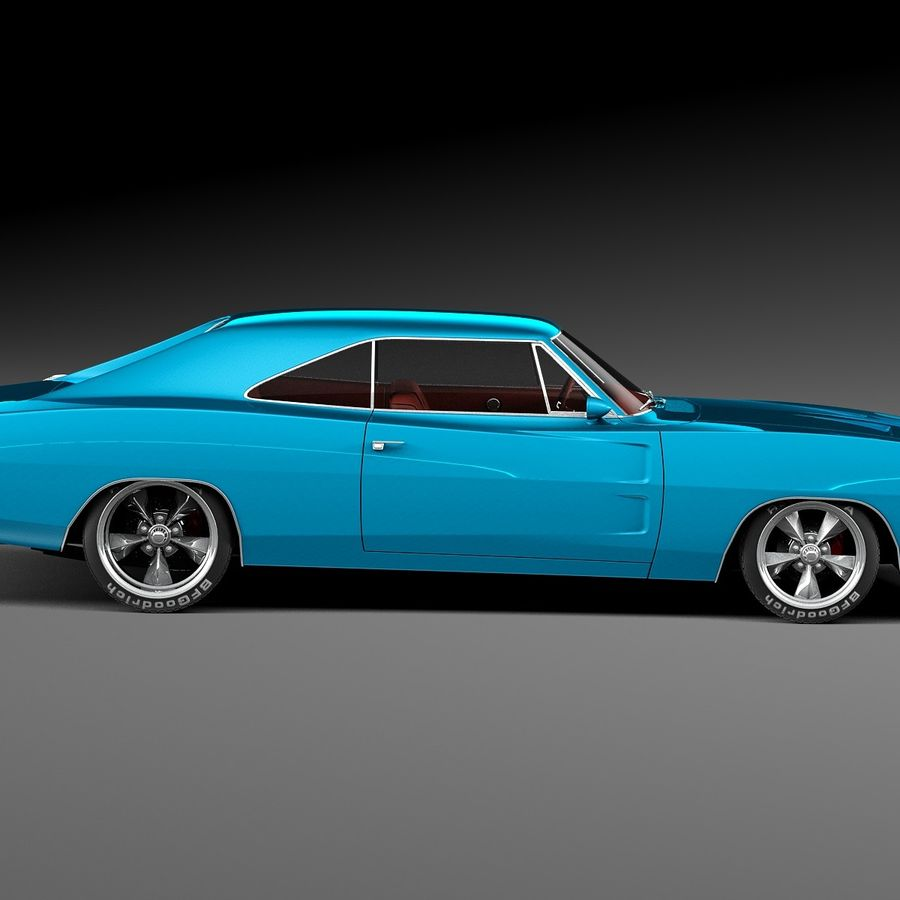 Dodge Charger Pro Touring 1968-1969 royalty-free 3d model - Preview no. 7