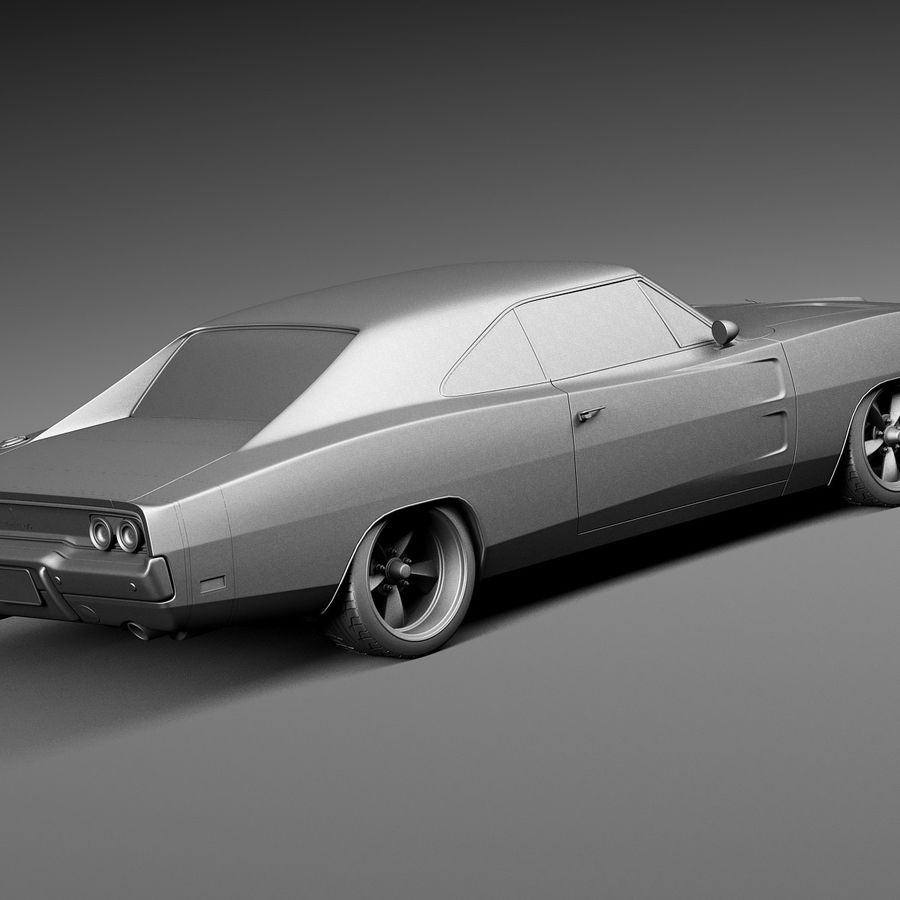 Dodge Charger Pro Touring 1968-1969 royalty-free 3d model - Preview no. 14