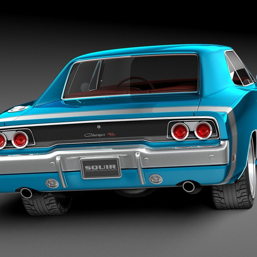 Dodge Charger Pro Touring 1968-1969 royalty-free 3d model - Preview no. 6
