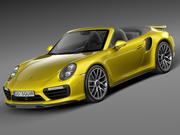 Porsche 911 Turbo S convertible 2016 3d model