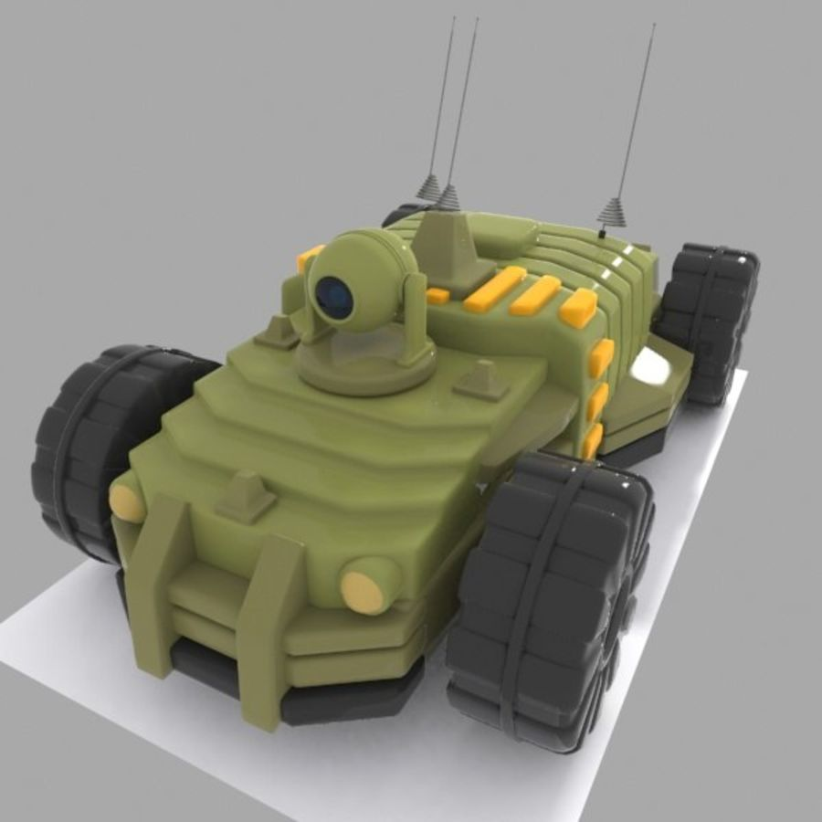 Cartoon onbemand voertuig royalty-free 3d model - Preview no. 2