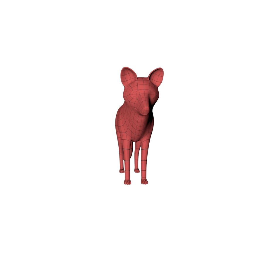 Fox base mesh royalty-free 3d model - Preview no. 4