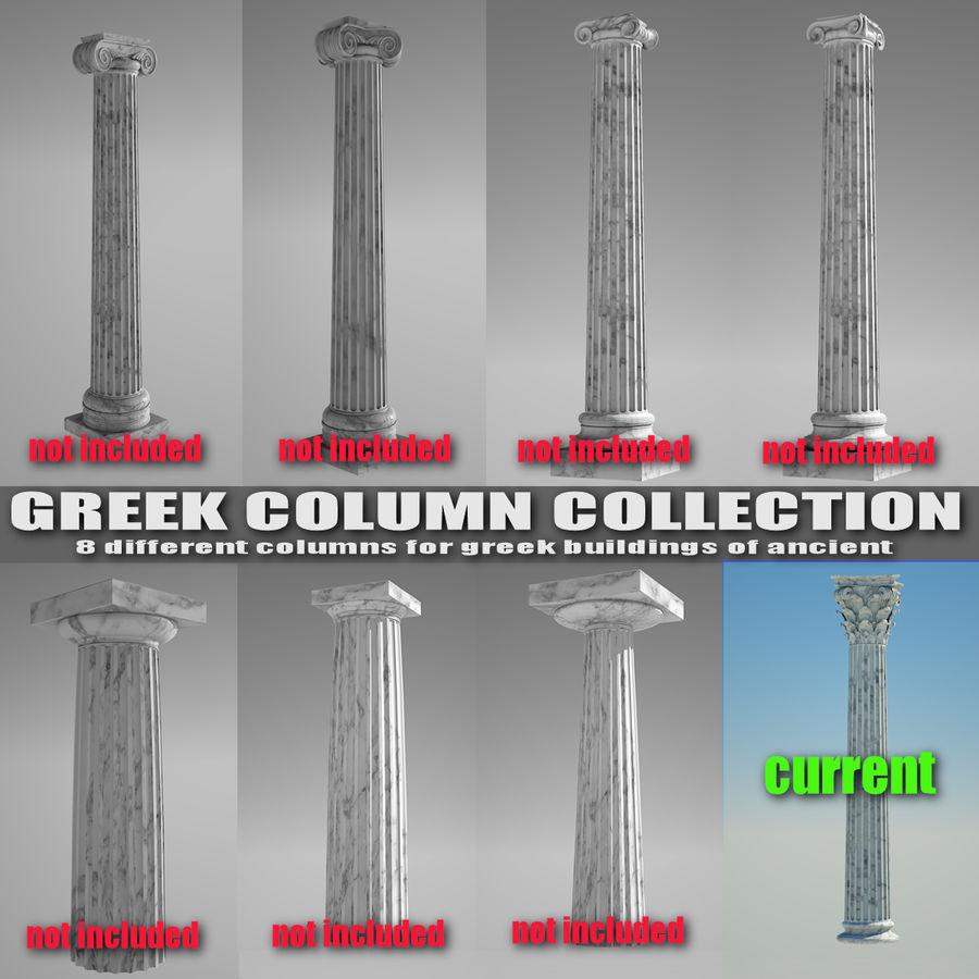 Korintisk kolumn 8 royalty-free 3d model - Preview no. 5