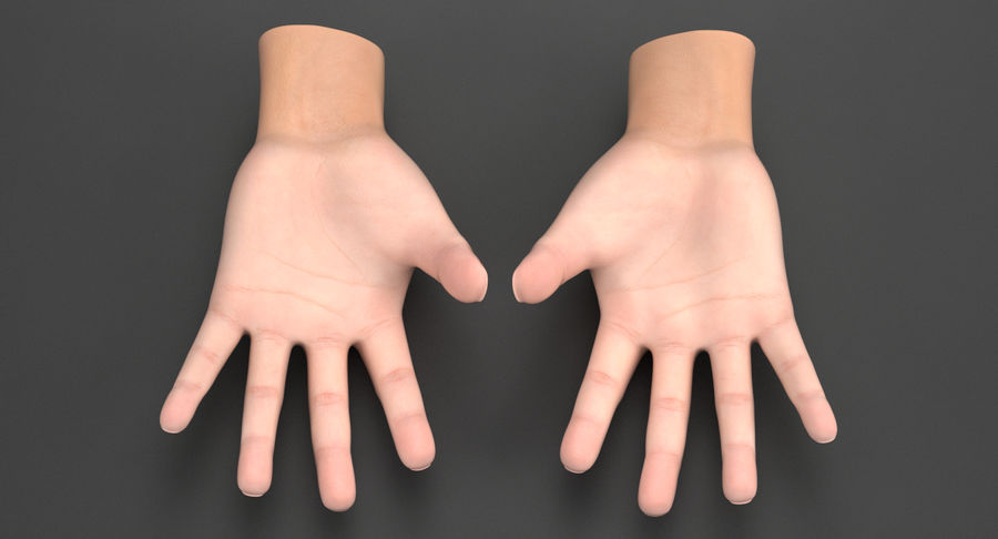 Realistic Hand royalty-free 3d model - Preview no. 4
