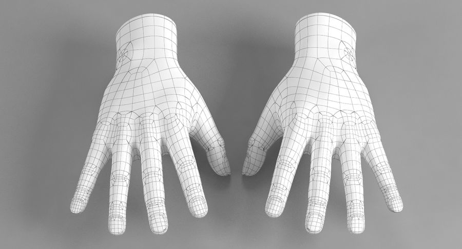 Realistic Hand royalty-free 3d model - Preview no. 7