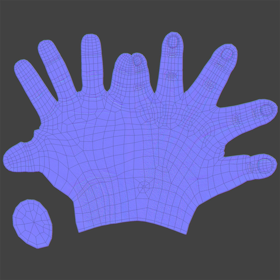 Realistic Hand royalty-free 3d model - Preview no. 6