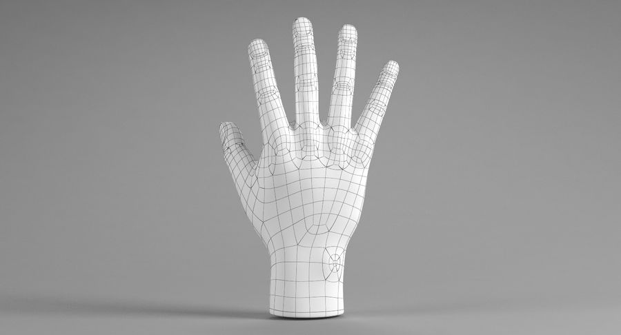 Realistic Hand royalty-free 3d model - Preview no. 9
