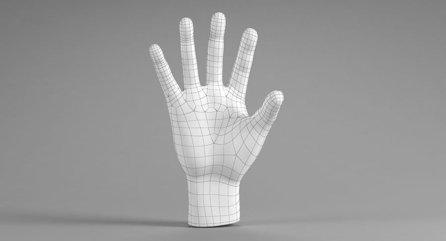 Realistic Hand royalty-free 3d model - Preview no. 12