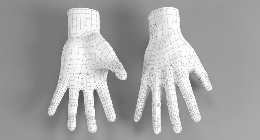 Realistic Hand royalty-free 3d model - Preview no. 8