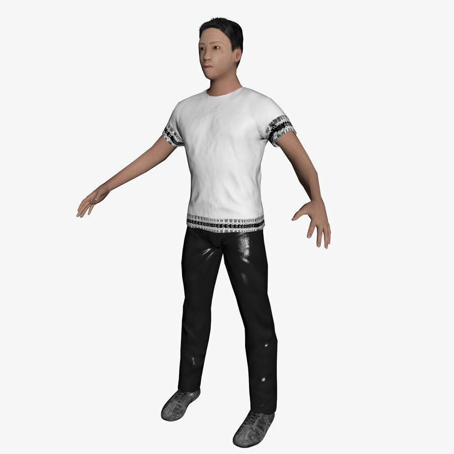 Average Caucasian Male royalty-free 3d model - Preview no. 1