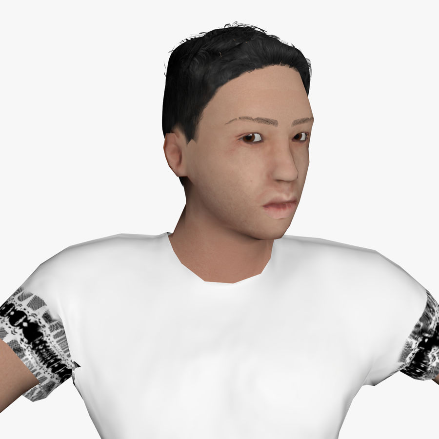 Average Caucasian Male royalty-free 3d model - Preview no. 3