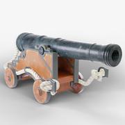 海軍大砲 3d model