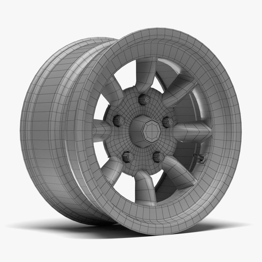 Minilite Wheel royalty-free 3d model - Preview no. 8