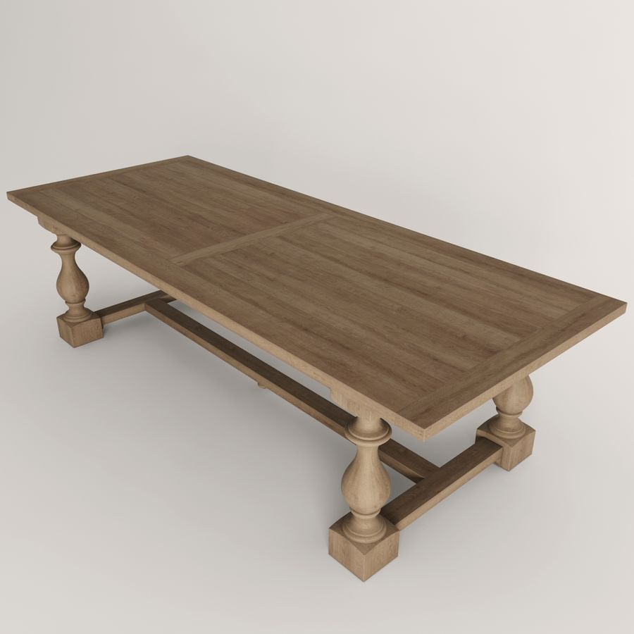 17th C Monastery Rectangular Dining Table 3d Model 18 Fbx Max Free3d