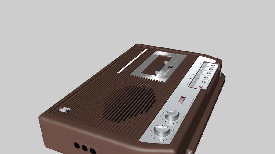 tape recorder electronics royalty-free 3d model - Preview no. 5