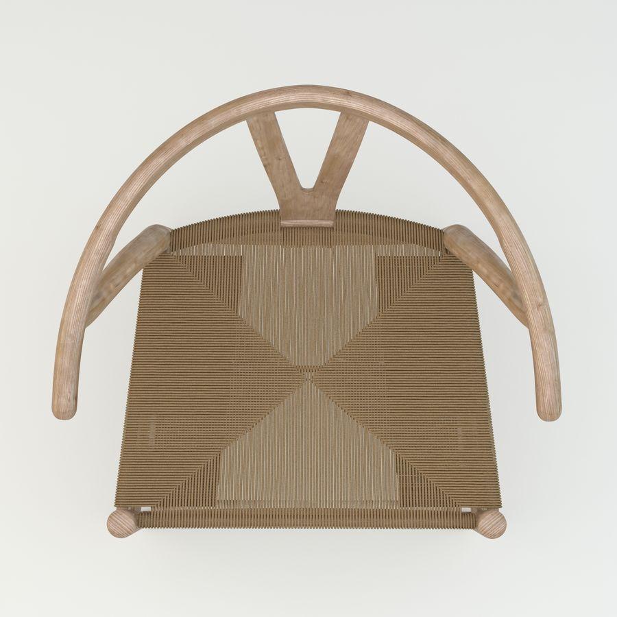 Işık Ahşap yüksek kaliteli İskandinav salıncaklı Sandalye CH24 Yüksek Poli modeli royalty-free 3d model - Preview no. 6