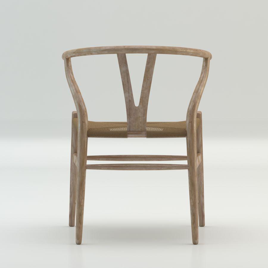 Işık Ahşap yüksek kaliteli İskandinav salıncaklı Sandalye CH24 Yüksek Poli modeli royalty-free 3d model - Preview no. 5