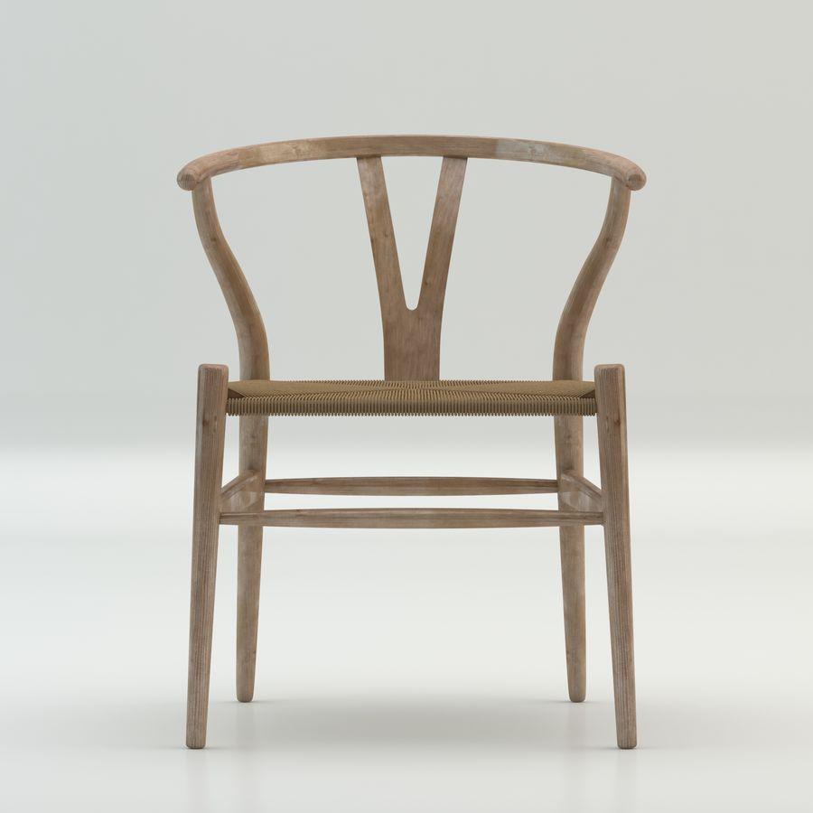 Işık Ahşap yüksek kaliteli İskandinav salıncaklı Sandalye CH24 Yüksek Poli modeli royalty-free 3d model - Preview no. 3