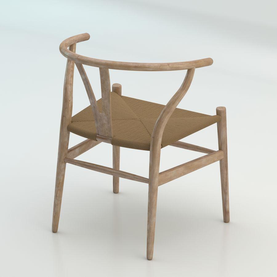 Işık Ahşap yüksek kaliteli İskandinav salıncaklı Sandalye CH24 Yüksek Poli modeli royalty-free 3d model - Preview no. 2