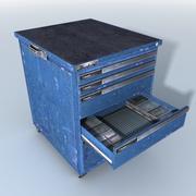중간 도구 캐비닛 3d model