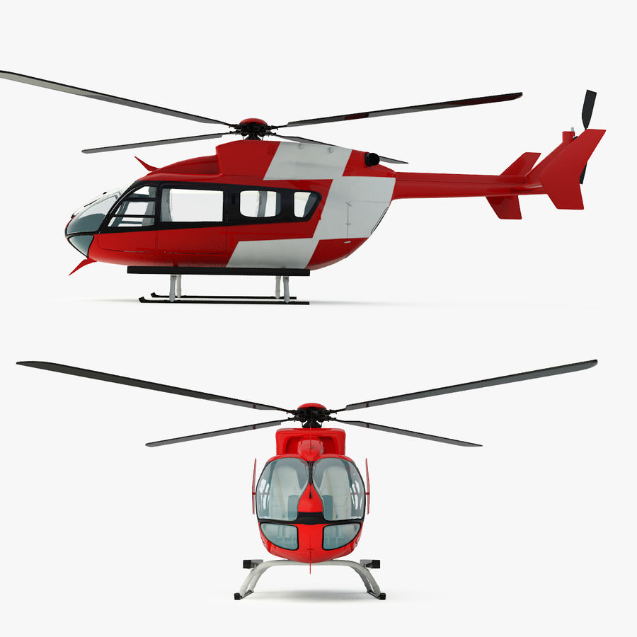 Eurocopter EC145 oder Airbus Hubschrauber H145 royalty-free 3d model - Preview no. 3