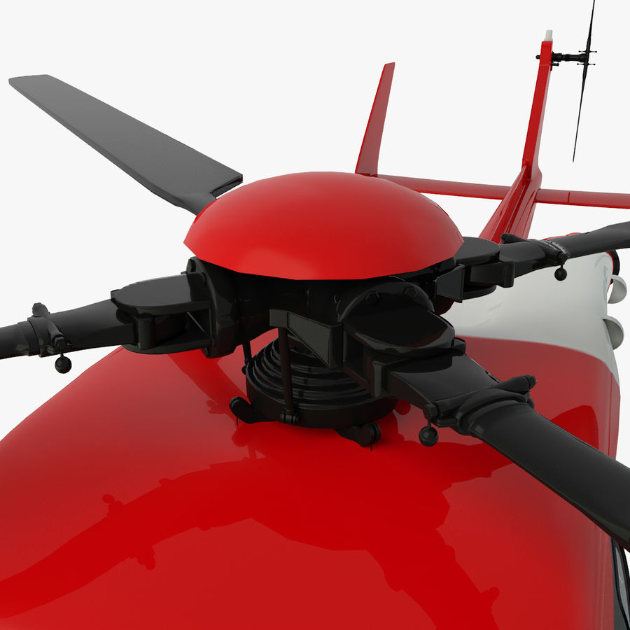 Eurocopter  EC145 or Airbus Helicopters H145 royalty-free 3d model - Preview no. 7