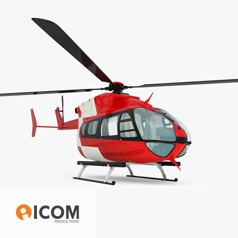 Eurocopter EC145 oder Airbus Hubschrauber H145 royalty-free 3d model - Preview no. 1