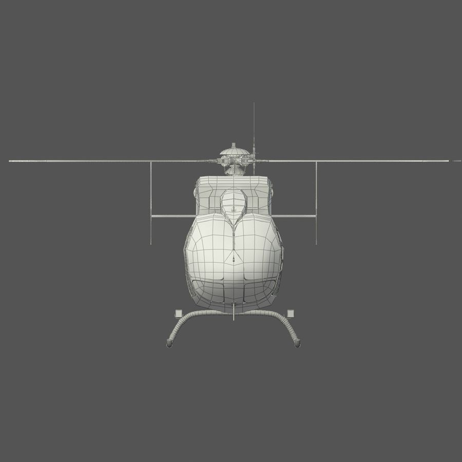 Eurocopter  EC145 or Airbus Helicopters H145 royalty-free 3d model - Preview no. 8