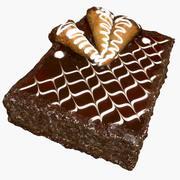 Cake 1 - Caramel & Chocolate 3d model