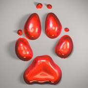 Wolf Footprint 3d model