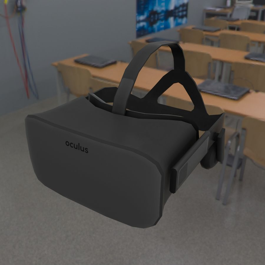 Oculus rift headset low poly royalty-free 3d model - Preview no. 5