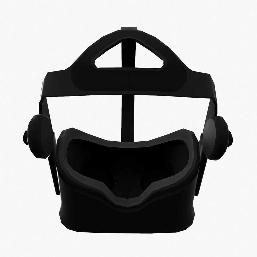 Oculus rift headset low poly royalty-free 3d model - Preview no. 8