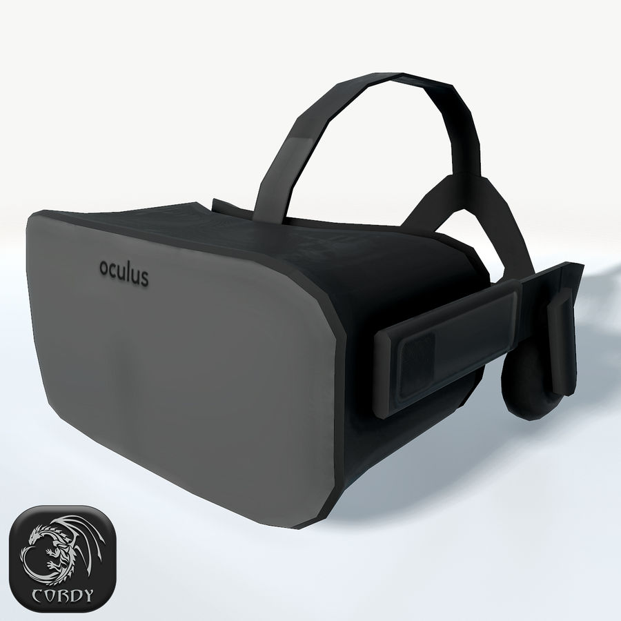 Oculus rift headset low poly royalty-free 3d model - Preview no. 1
