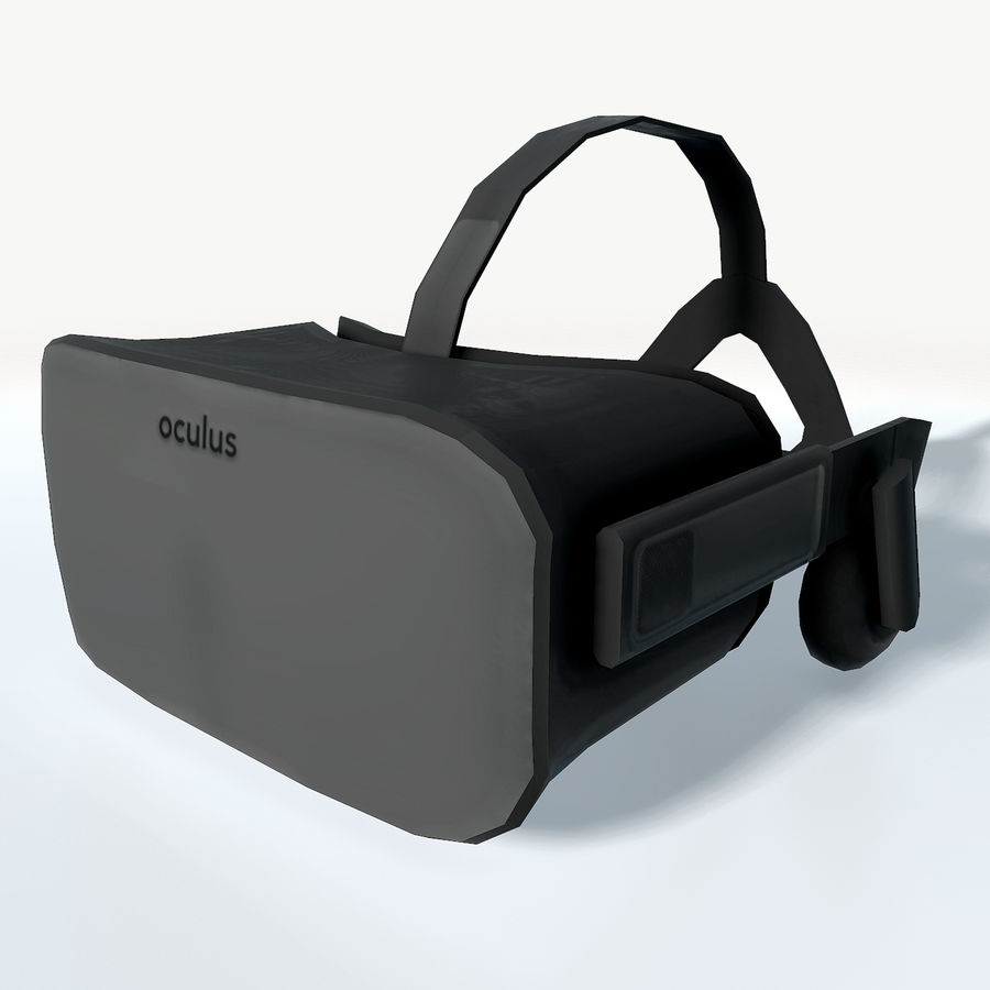 Oculus rift headset low poly royalty-free 3d model - Preview no. 2