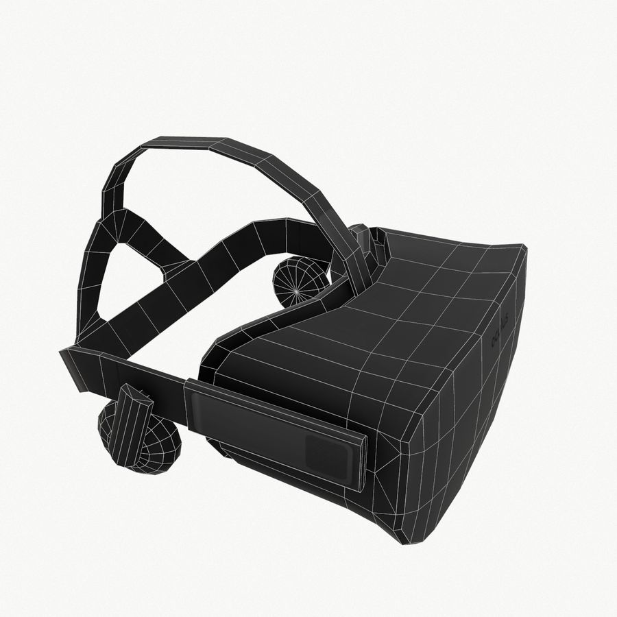 Oculus rift headset low poly royalty-free 3d model - Preview no. 7