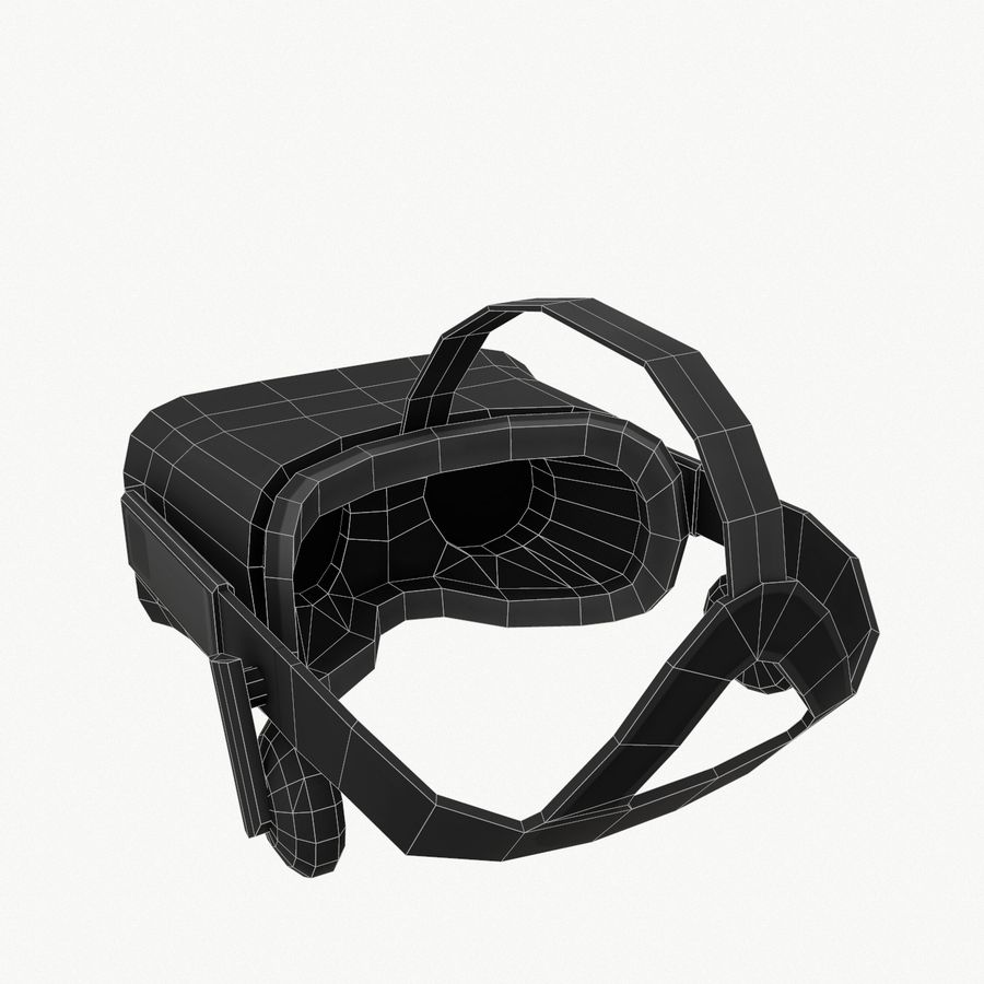 Oculus rift headset low poly royalty-free 3d model - Preview no. 10
