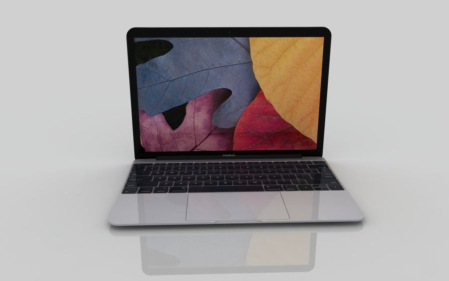 Macbook 2015 royalty-free 3d model - Preview no. 3