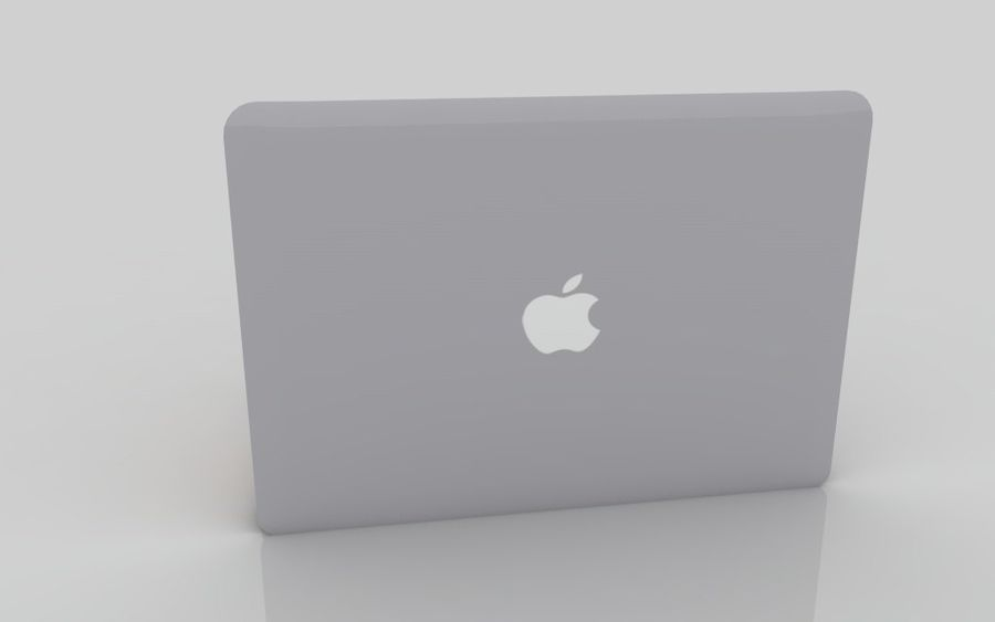 Macbook 2015 royalty-free 3d model - Preview no. 6