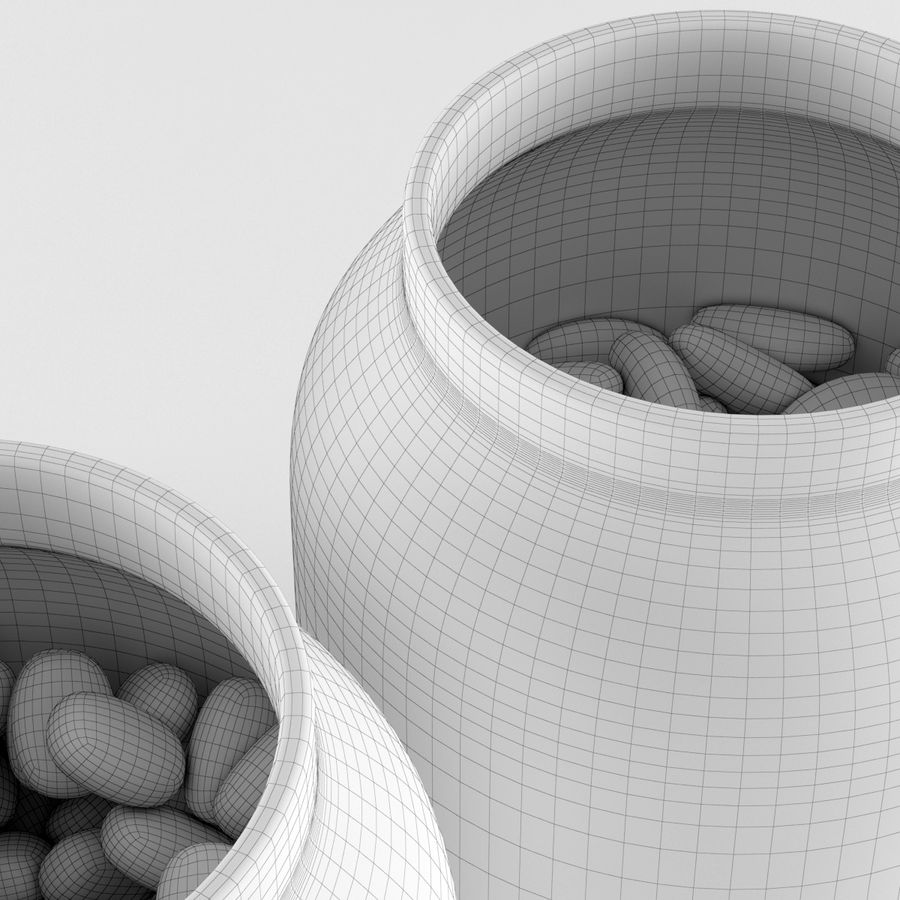 Gläser & Bohnen royalty-free 3d model - Preview no. 3