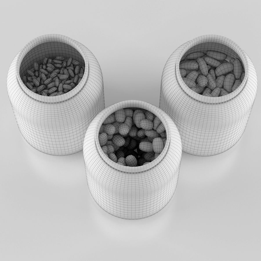 Gläser & Bohnen royalty-free 3d model - Preview no. 5