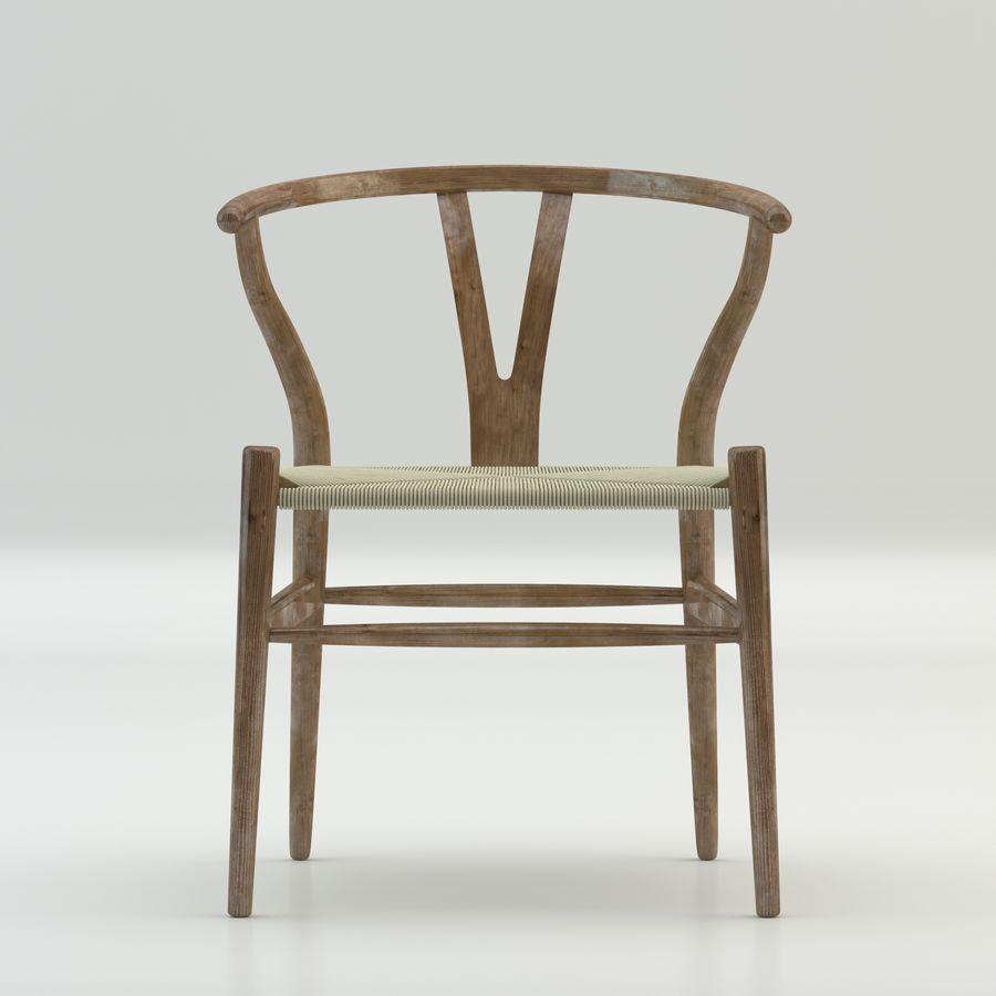 Den högkvalitativa skandinaviska Wishbone Chair CH24 High Poly-modellen i Brown Wood royalty-free 3d model - Preview no. 3