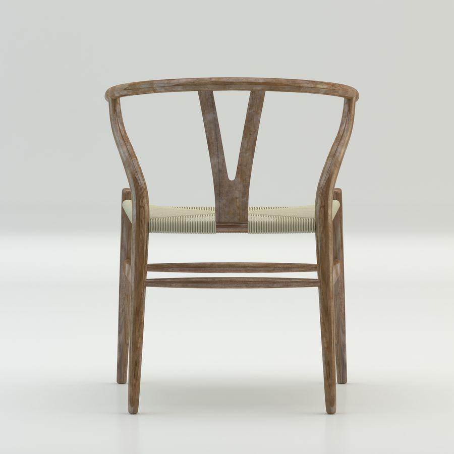 Den högkvalitativa skandinaviska Wishbone Chair CH24 High Poly-modellen i Brown Wood royalty-free 3d model - Preview no. 5