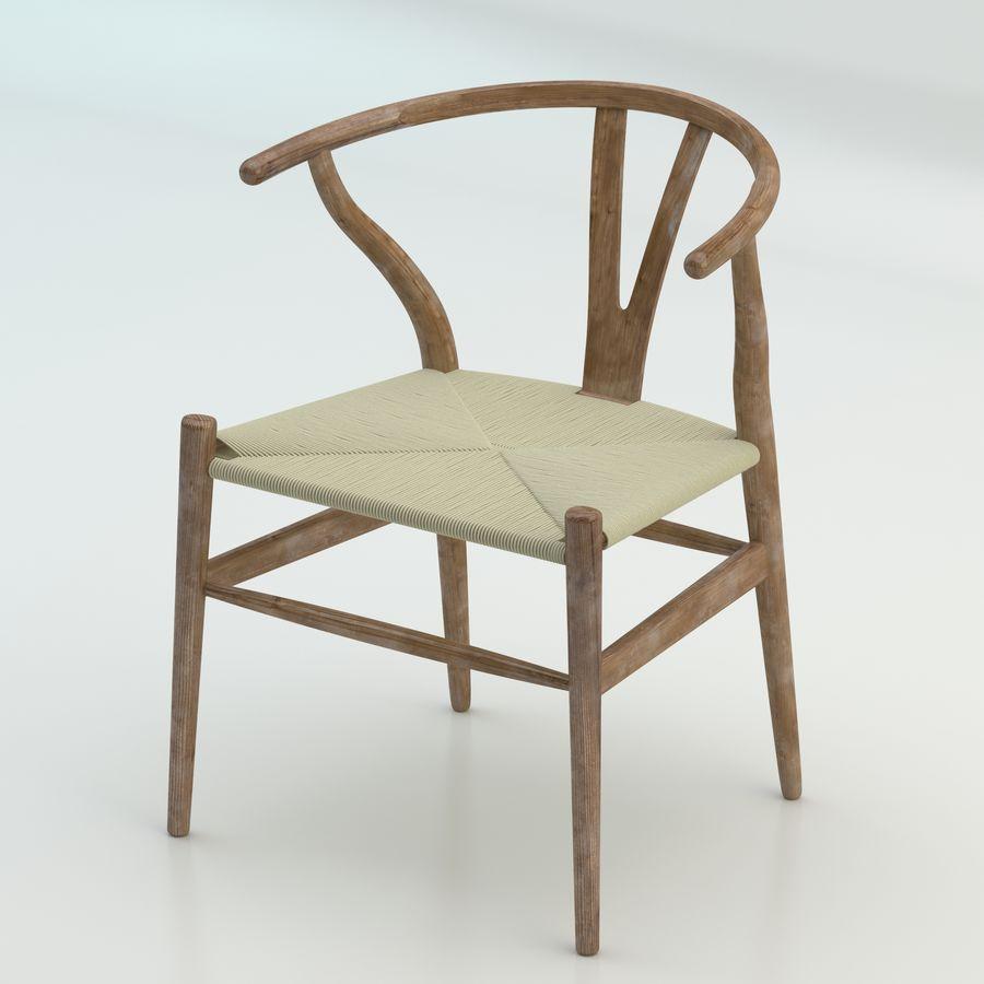 Den högkvalitativa skandinaviska Wishbone Chair CH24 High Poly-modellen i Brown Wood royalty-free 3d model - Preview no. 1