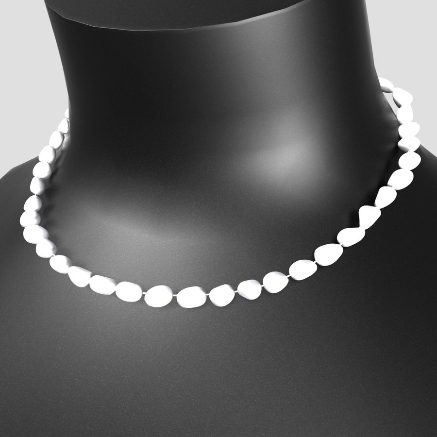Jewelry Mannequins royalty-free 3d model - Preview no. 9