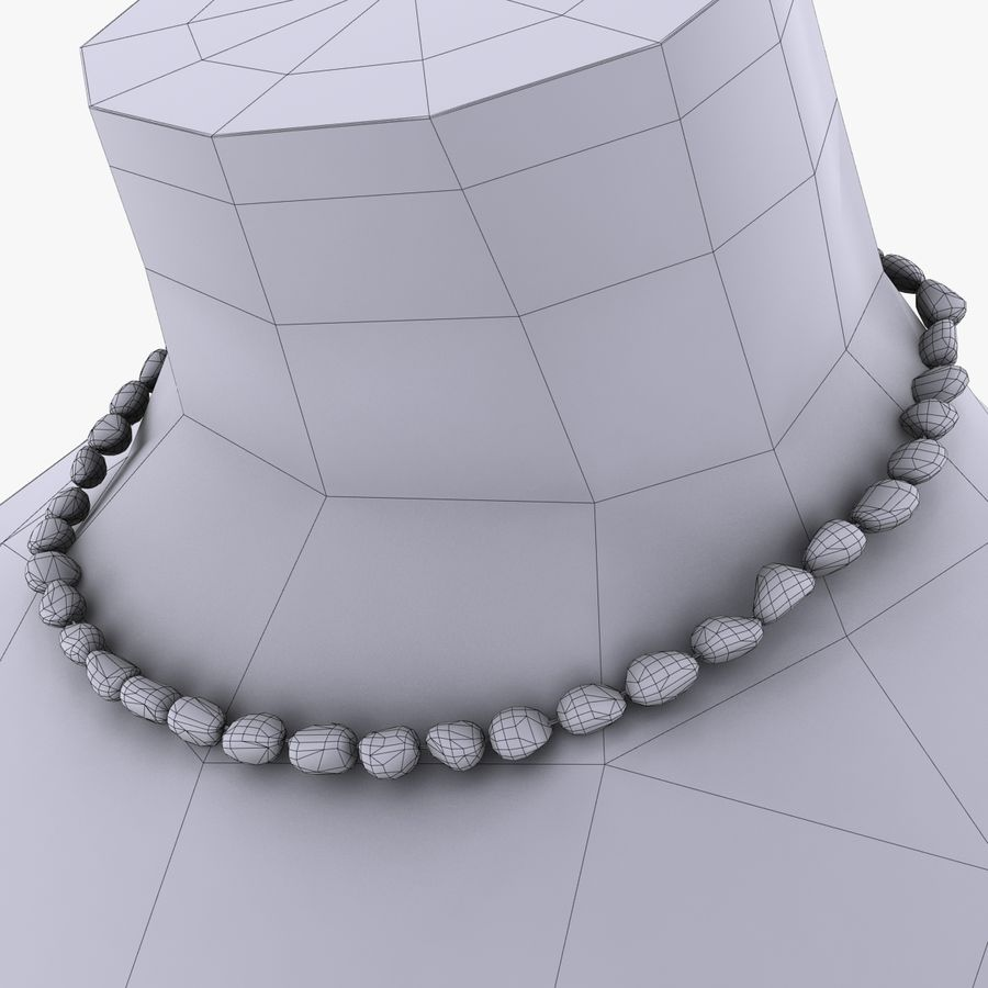 Jewelry Mannequins royalty-free 3d model - Preview no. 13